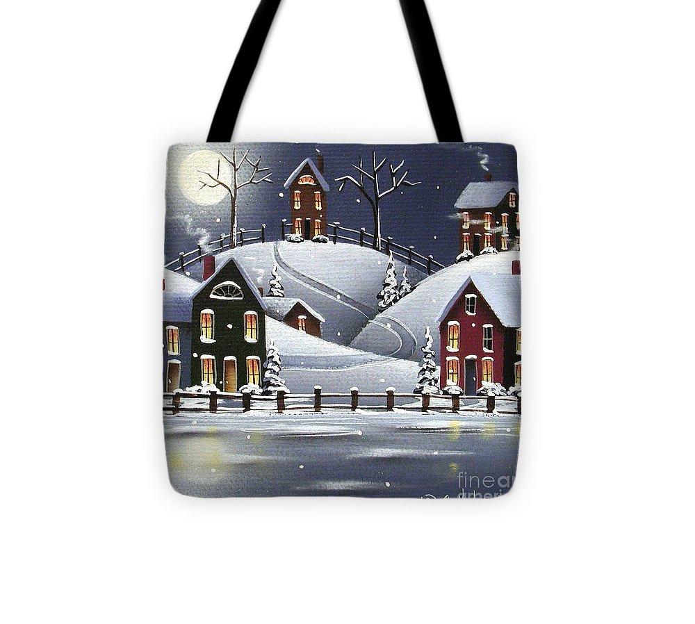 Art Tote Bag featuring the painting Snowflake Cove by Catherine Holman