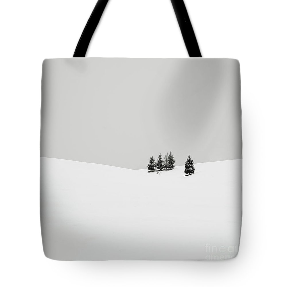 Contemporary Tote Bag featuring the photograph Snowscapes  Almost There by Ronny Behnert