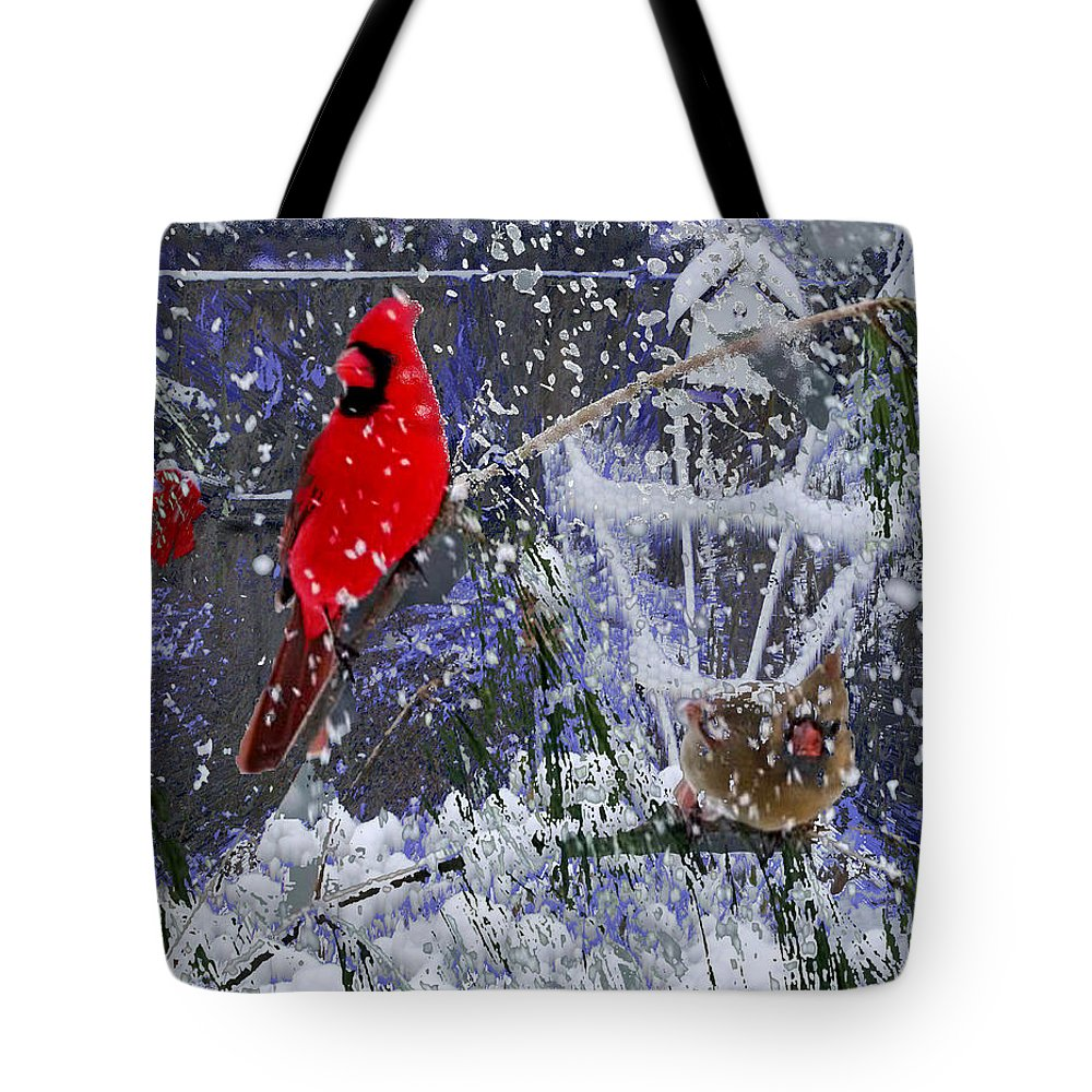 Snowstorm Tote Bag featuring the photograph Snowstrom by Seth Weaver