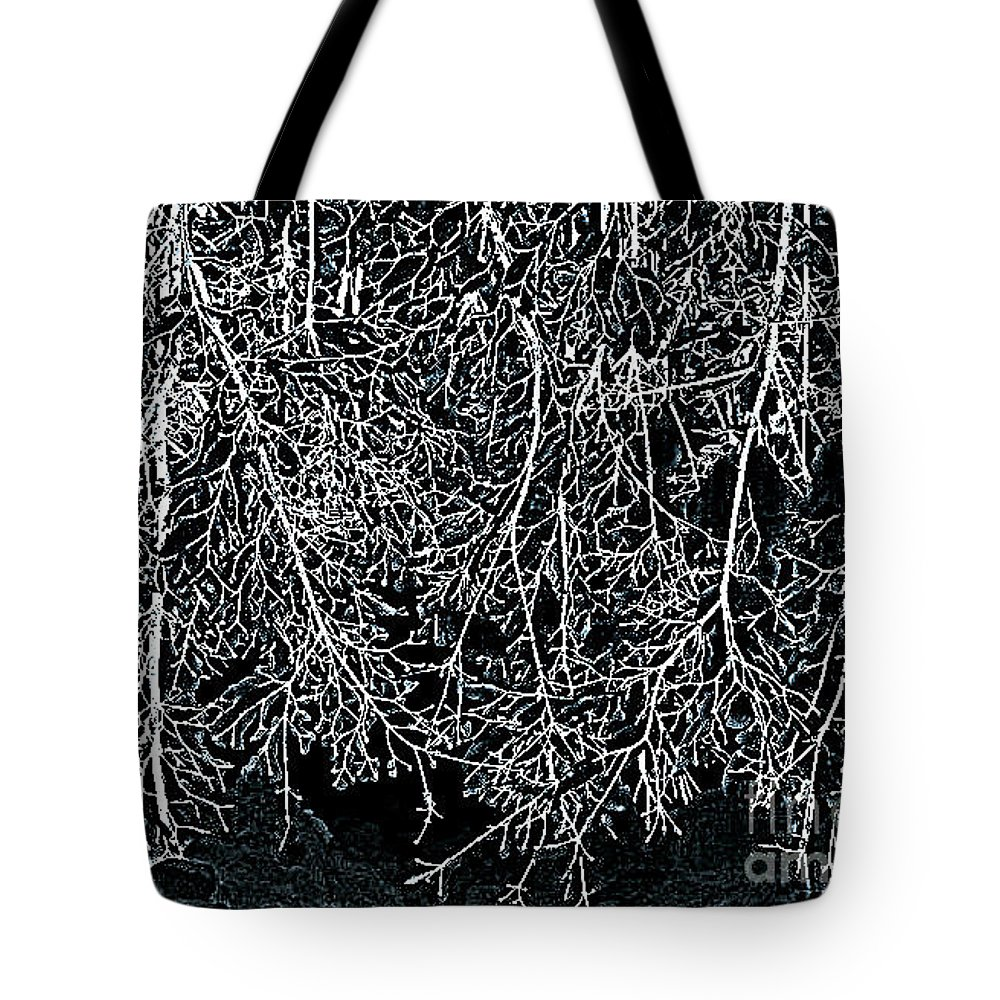 New Tote Bag featuring the photograph Snowy Abstract by Rick Maxwell