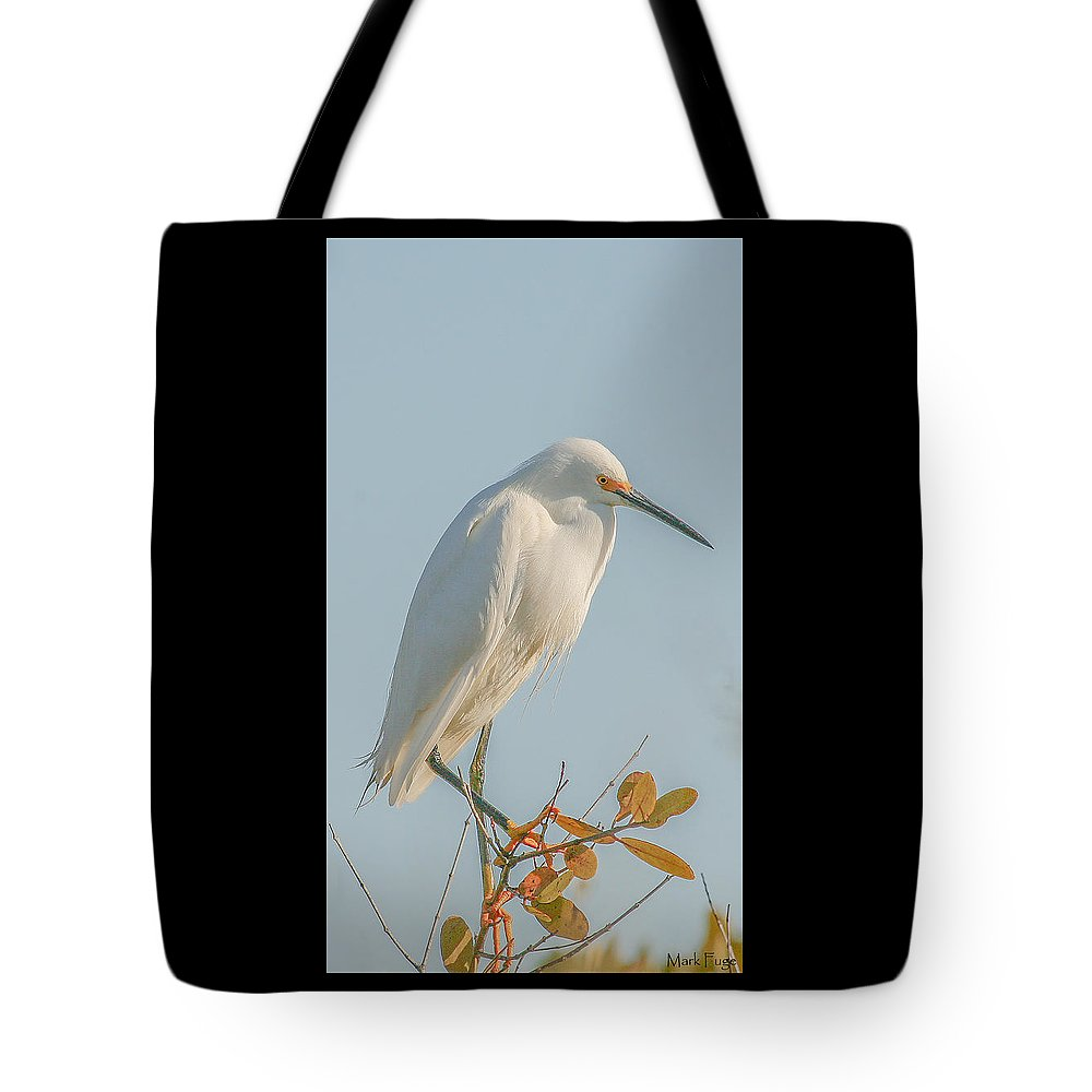 Florida Tote Bag featuring the photograph Snowy Egret by Mark Fuge