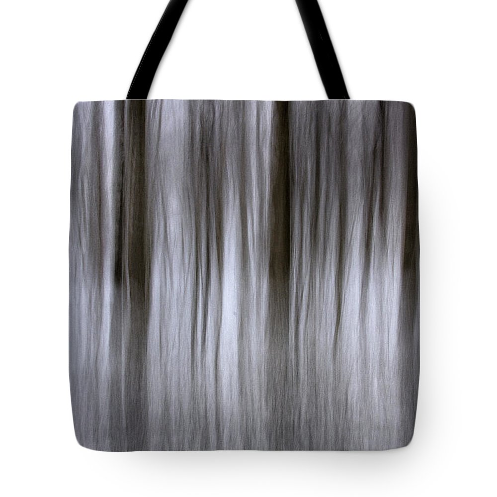 Forest Tote Bag featuring the photograph Snowy Forest by Sharon M Connolly