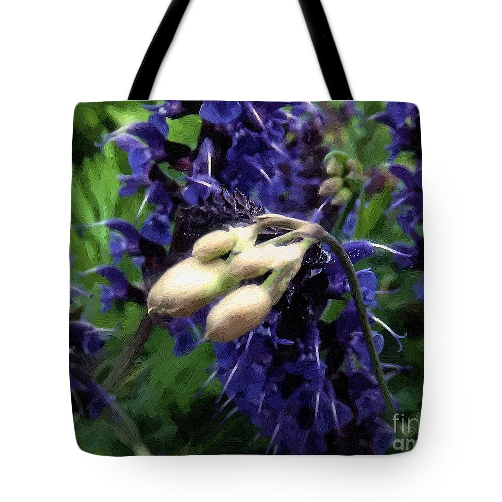 Blue Tote Bag featuring the painting So Close by RC DeWinter