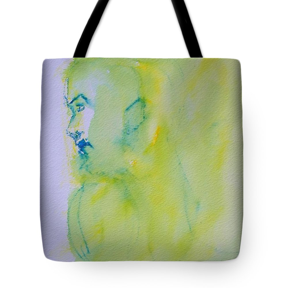 Abstract Tote Bag featuring the painting So Far Away 2 by Judith Redman