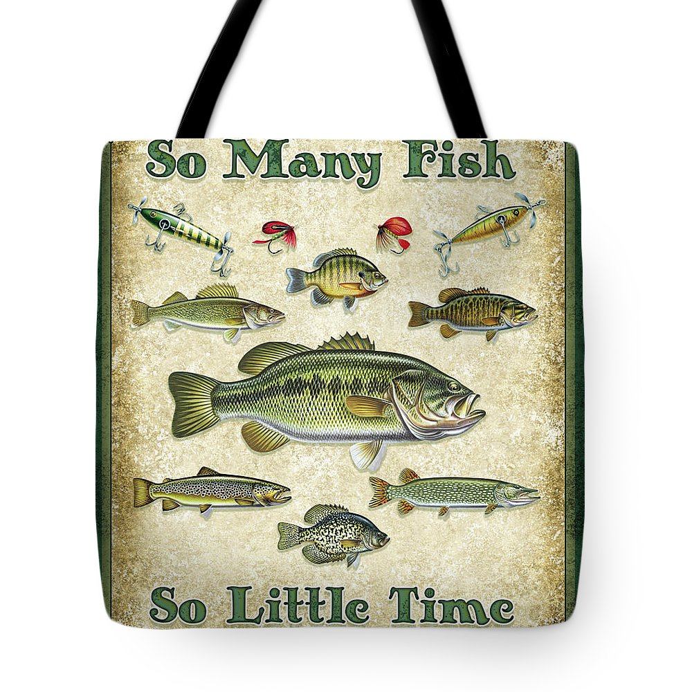 Smallmouth Bass Tote Bags