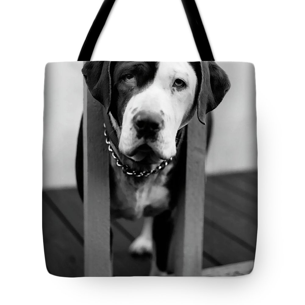 Black And White Tote Bag featuring the photograph So Sad by Peter Piatt