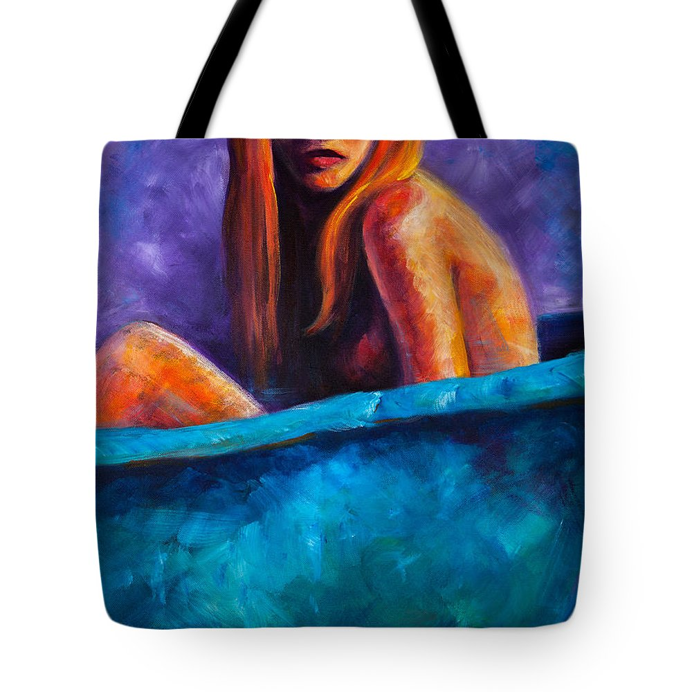 Nude Tote Bag featuring the painting Soak by Jason Reinhardt