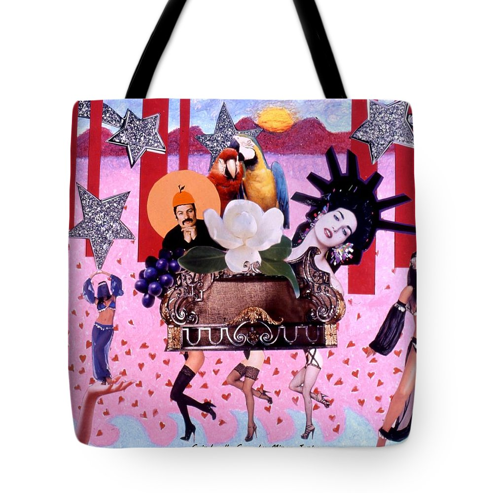 Collage Tote Bag featuring the drawing Soap Scene # 28 You Have Seen That Movie Too by Minaz Jantz