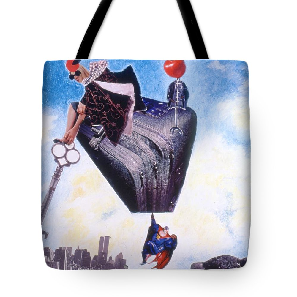 Twin Towers Tote Bag featuring the drawing Soap Scene #11 Seek The Love Within by Minaz Jantz