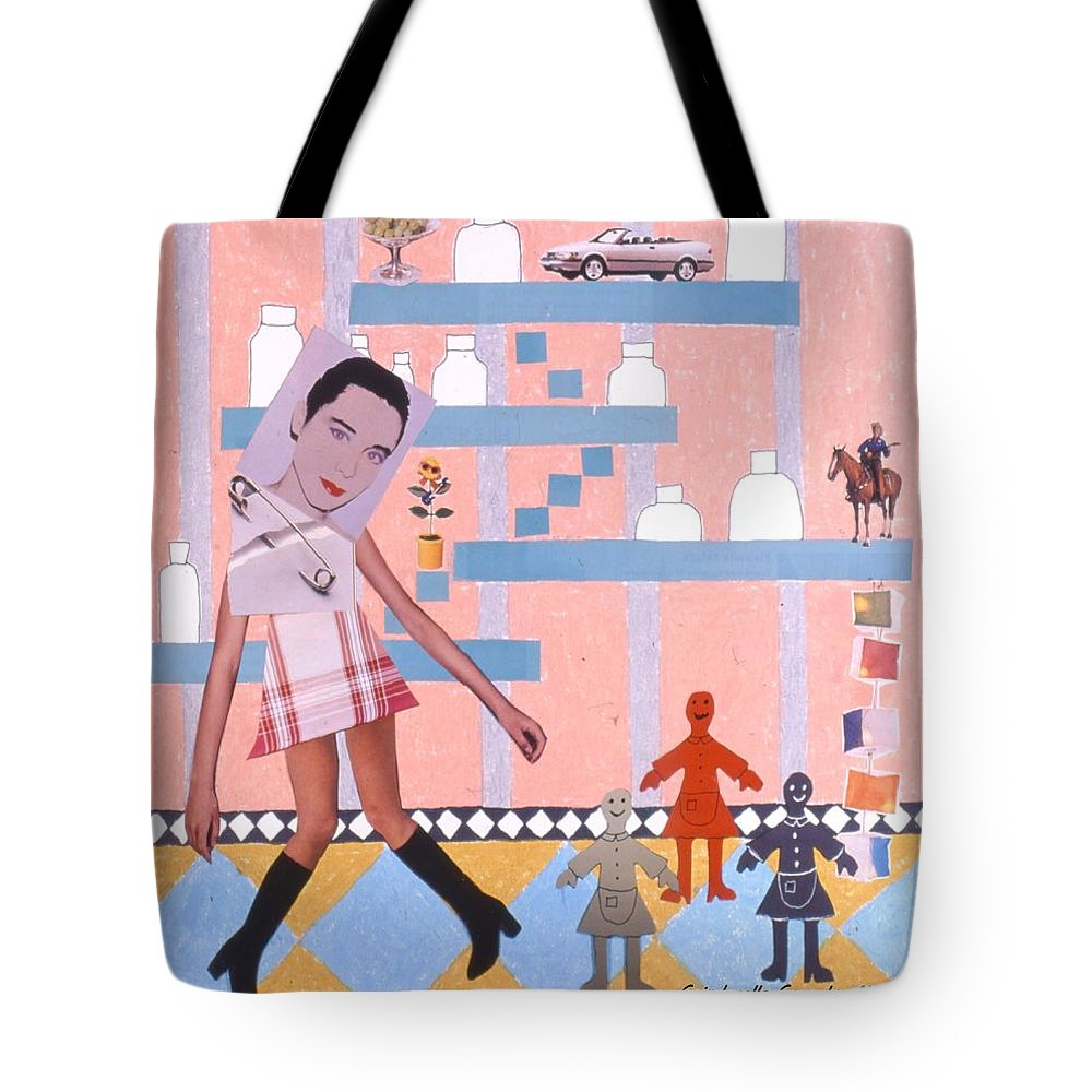 Cowboy Tote Bag featuring the drawing Soap Scene #16 Miracle Maids by Minaz Jantz