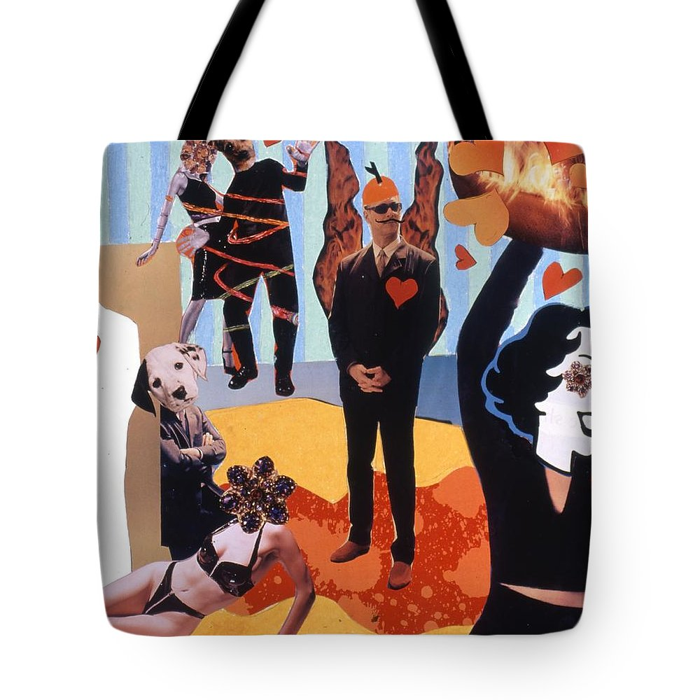 Hearts Tote Bag featuring the drawing Soap Scene #18 Burn In Heaven At The Club Relish by Minaz Jantz