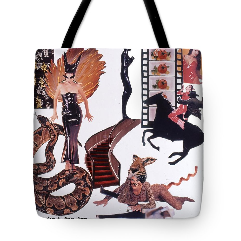 Boa Tote Bag featuring the drawing Soap Scene #22 Lust In The Wind by Minaz Jantz