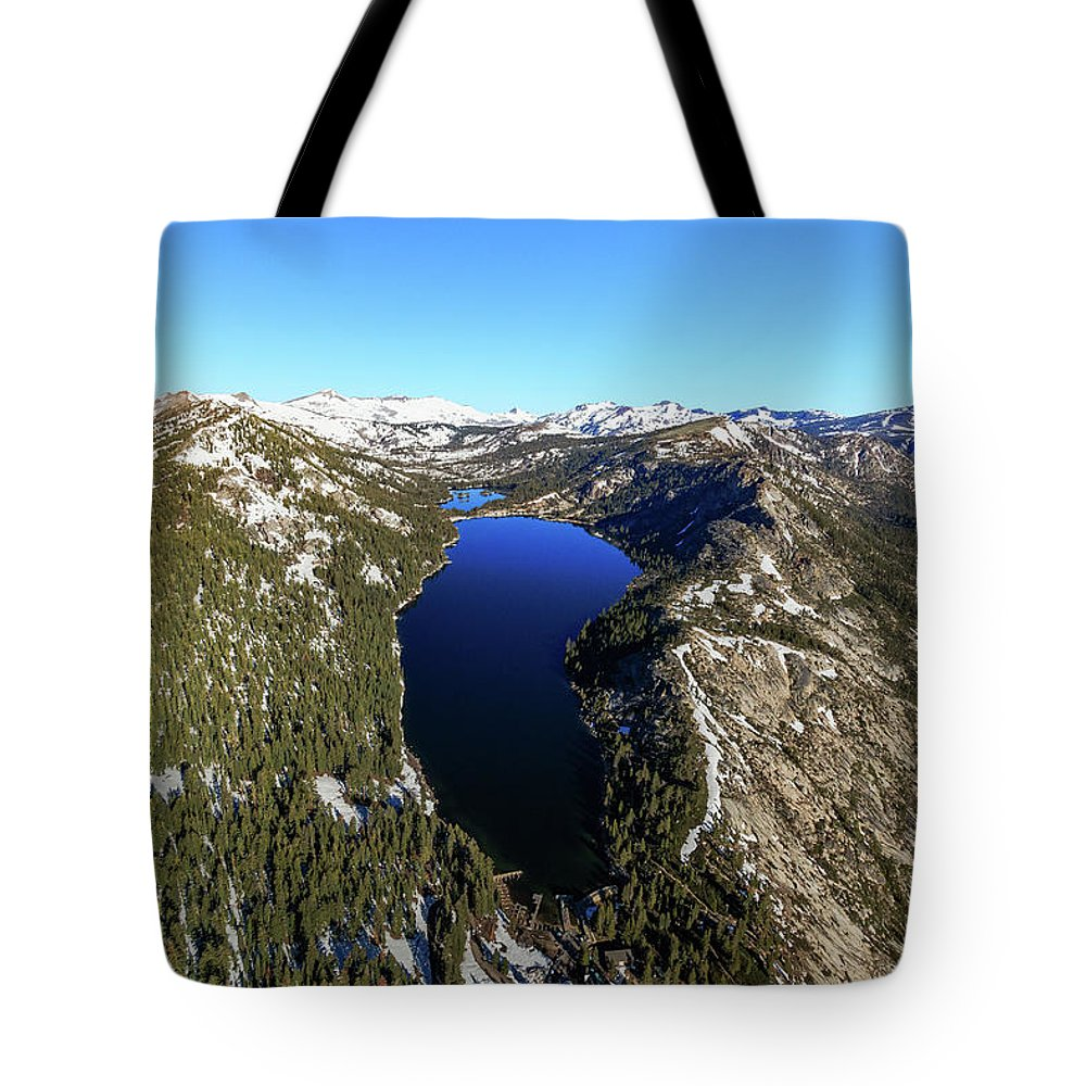 Sierra Tote Bag featuring the photograph Soaring Above The Echos by Mike Herron
