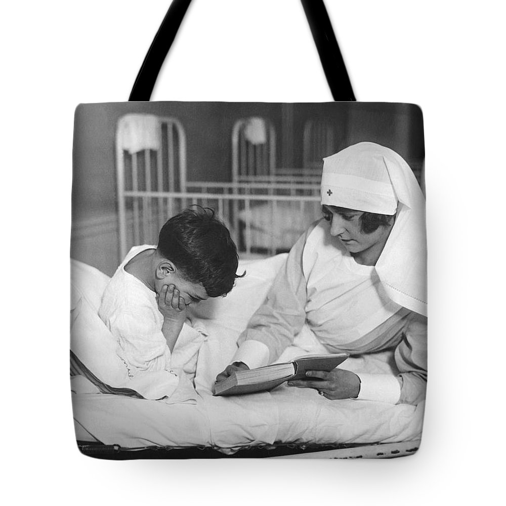 1920s Tote Bag featuring the photograph Society Girls Volunteer Time by Underwood Archives