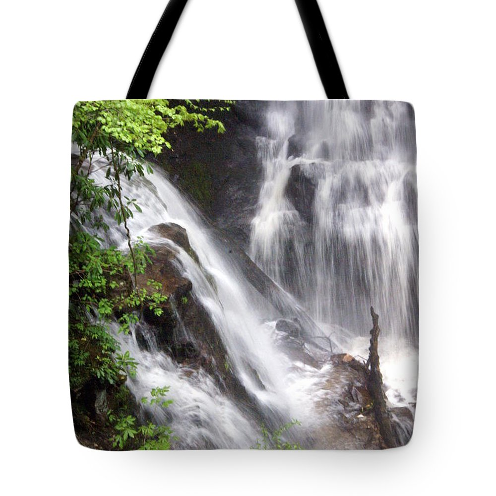 Soco Galls Tote Bag featuring the photograph Soco Falls 2 by Marty Koch