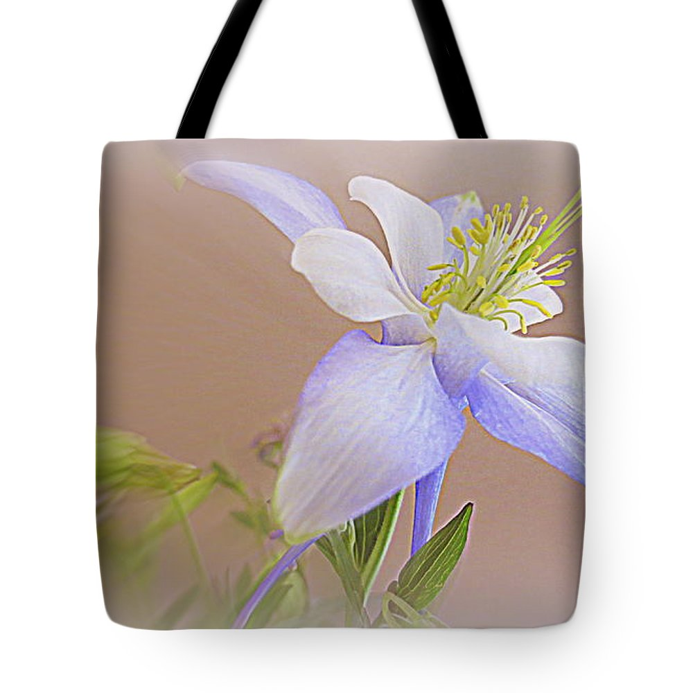Columbine Tote Bag featuring the photograph Soft And Lovely Columbine Flower by Kay Novy