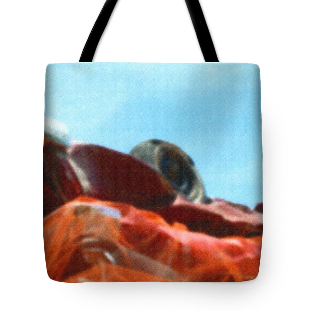 Auto Car Tire Abstract Mountains Peak Palm Springs Digital Filter Range Tote Bag featuring the photograph Soft Crushed Car Mountain by Stan Magnan