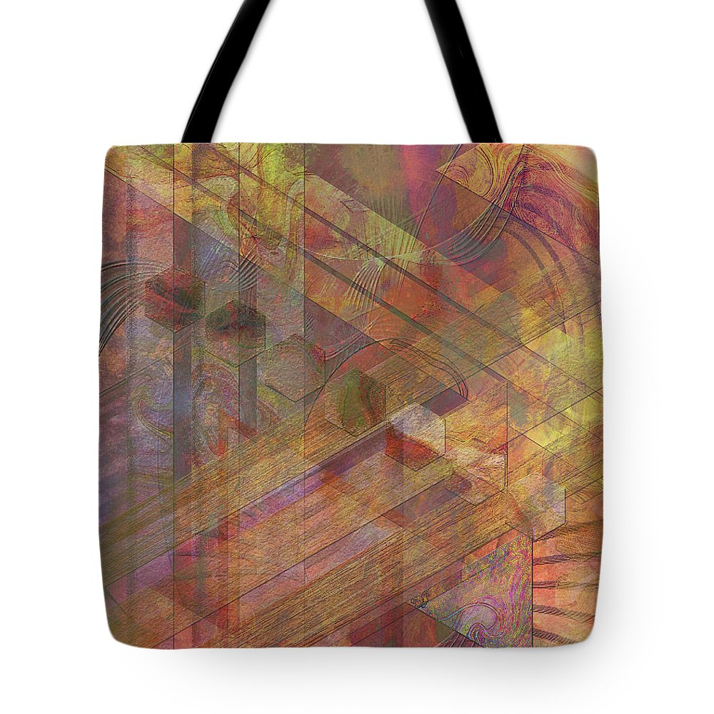 Soft Fantasia Tote Bag featuring the digital art Soft Fantasia by John Beck