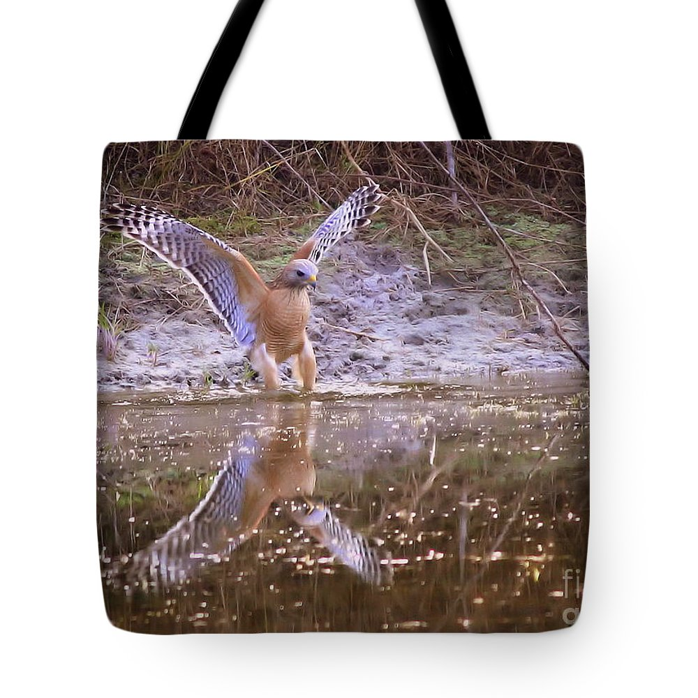 Nature Tote Bag featuring the photograph Soft Landing On The Pond by Carol Groenen