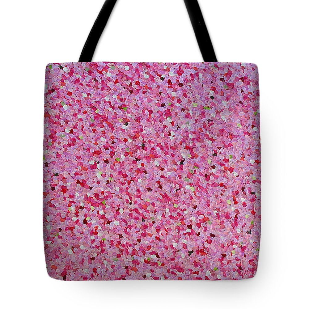Abstract Tote Bag featuring the painting Soft Red Light by Dean Triolo