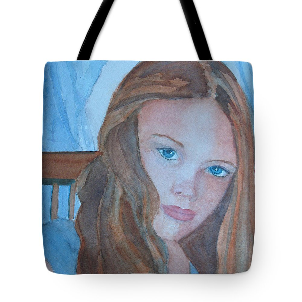 Girls Tote Bag featuring the painting Soft Steel by Jenny Armitage