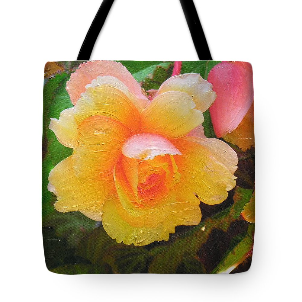 Tote Bag featuring the mixed media Softness by Diane Greco-Lesser