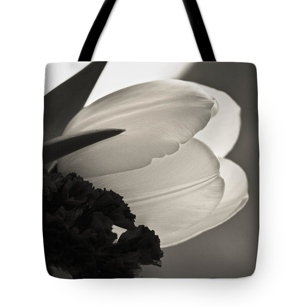 Floral Tote Bag featuring the photograph Lit Tulip by Marilyn Hunt