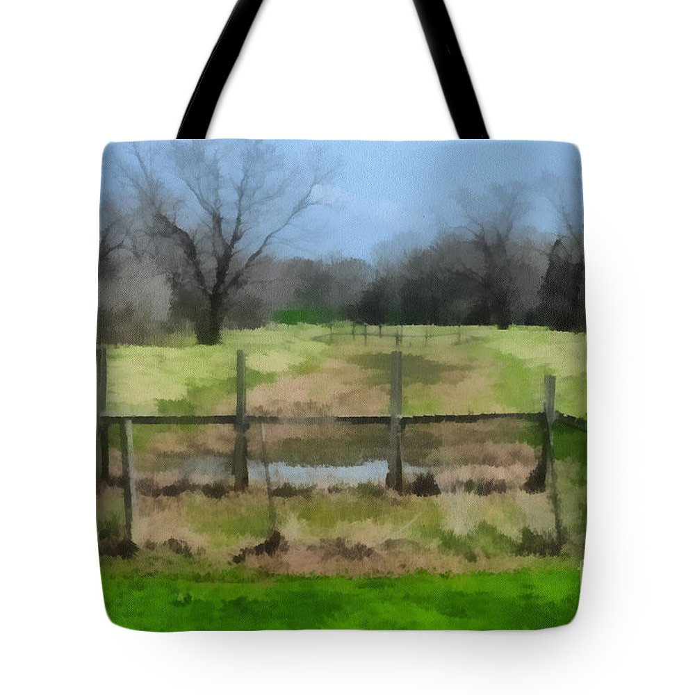 Corporate Tote Bag featuring the photograph Soggy Texas Bayou by Paulette B Wright
