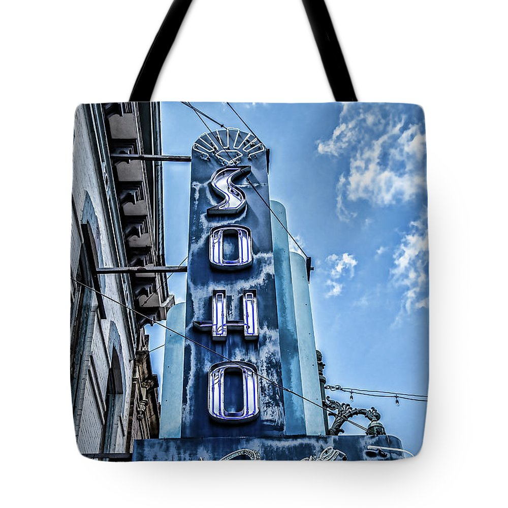 Steven Bateson Tote Bag featuring the photograph Soho Lounge Austin by Steven Bateson