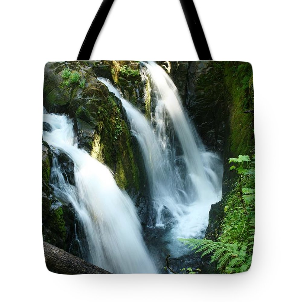 Waterfall Tote Bag featuring the photograph Sol Duc Falls by Idaho Scenic Images Linda Lantzy