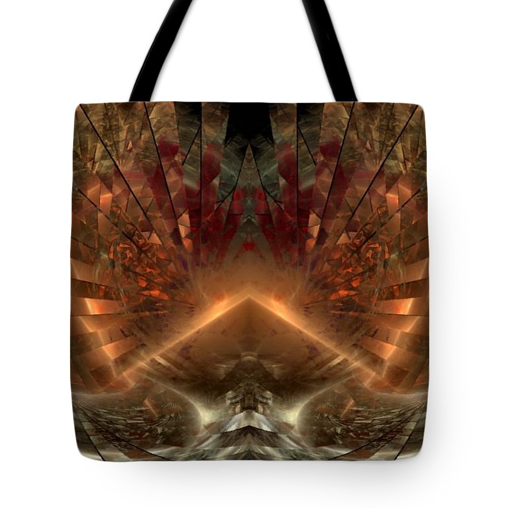 Sun Tote Bag featuring the digital art Sol Invictus by NirvanaBlues