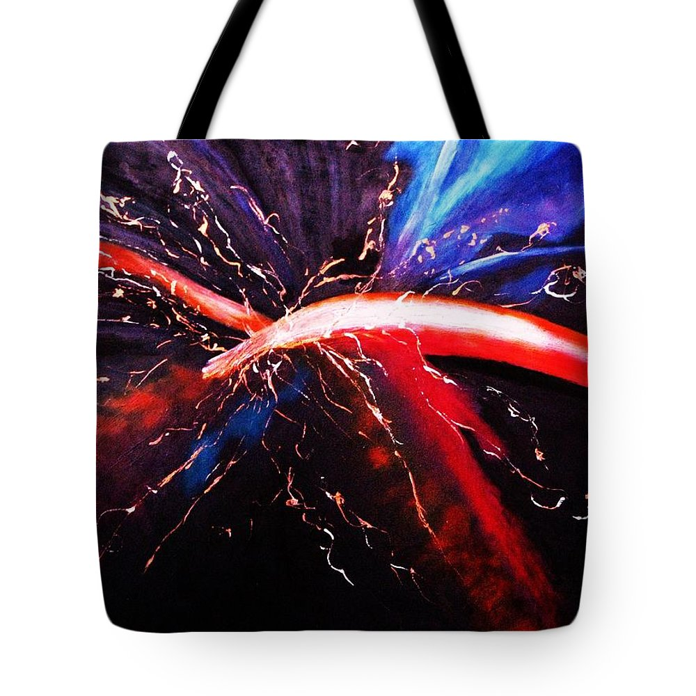 Acrylic Paintings Tote Bag featuring the painting Solace by Regina Brandt