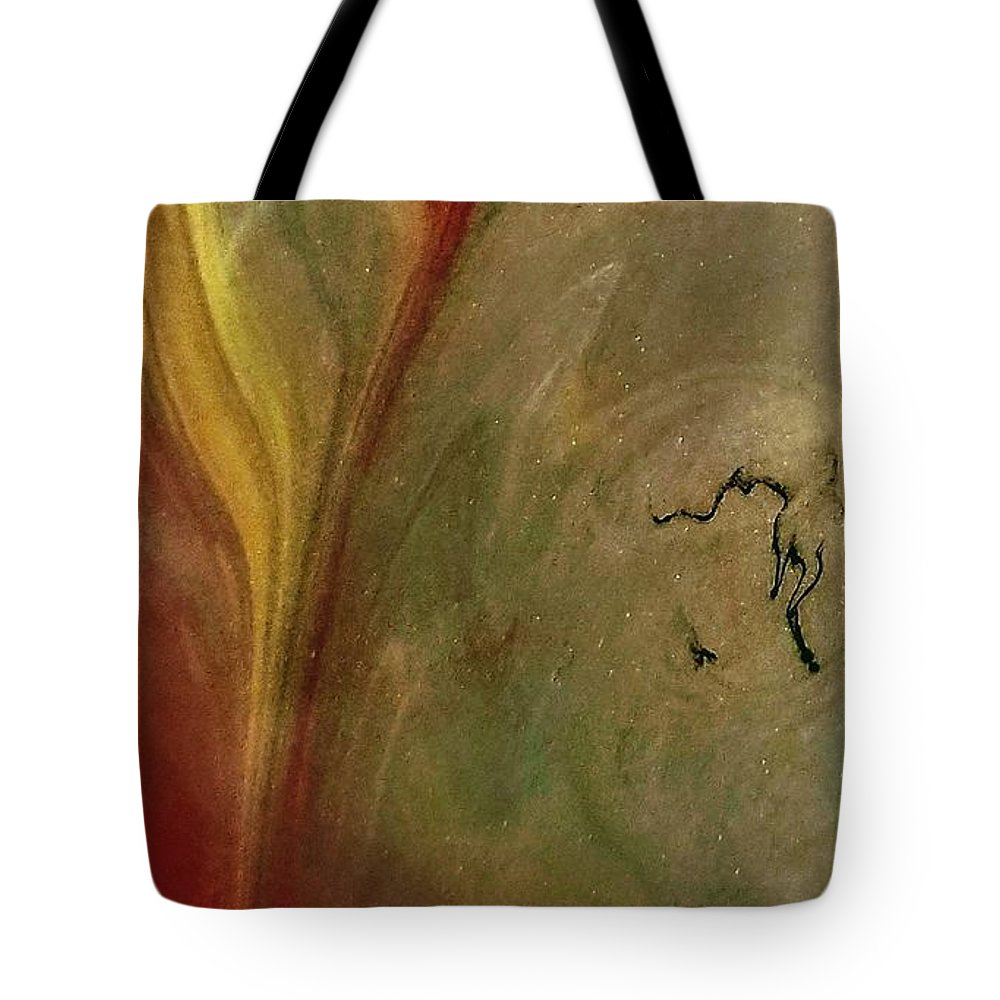 Unique Colorful Abstract Tote Bag featuring the photograph Solar Crack by Larry Liverman