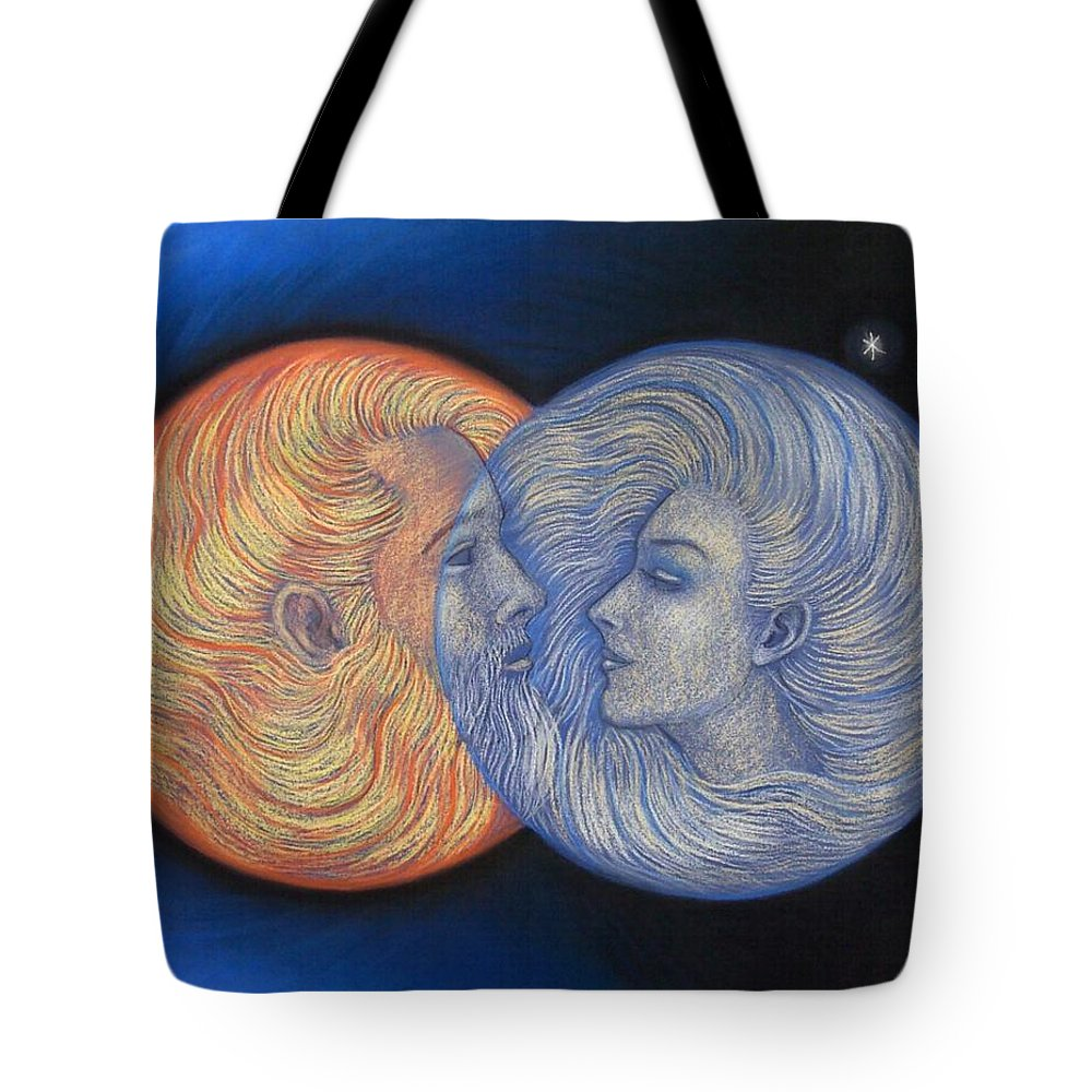 Solar Eclipse Tote Bag featuring the painting Solar Eclipse by Sue Halstenberg