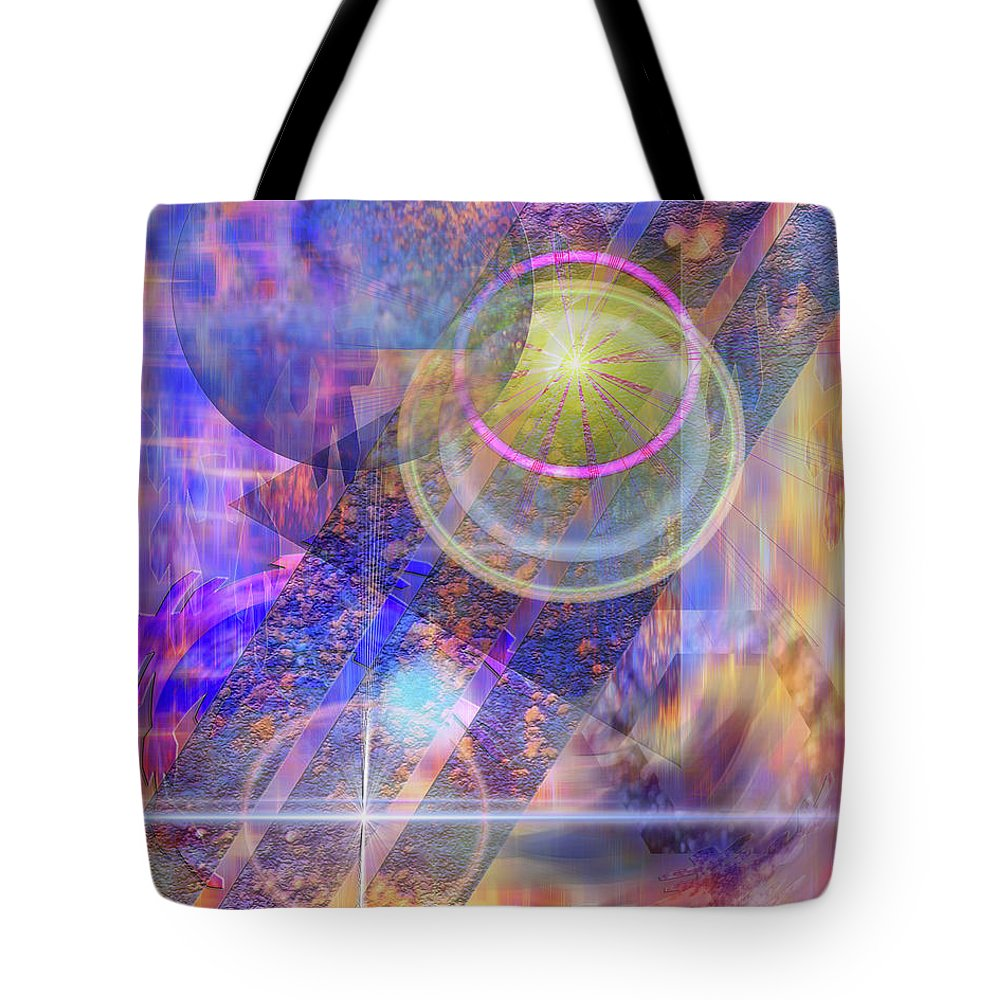 Solar Progression Tote Bag featuring the digital art Solar Progression by John Beck