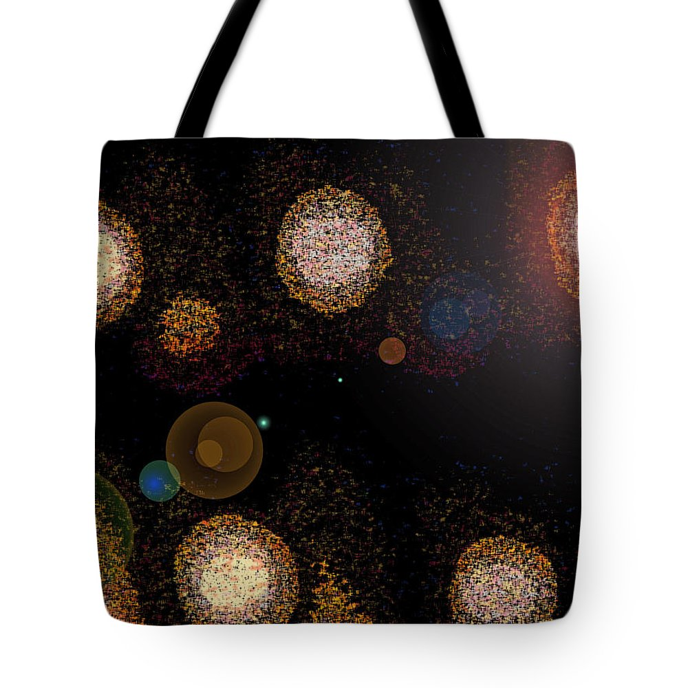 Abstract Tote Bag featuring the digital art Solar System by Lenore Senior