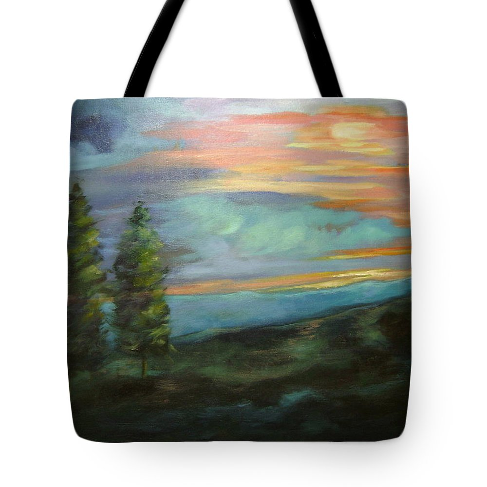 Landscape Tote Bag featuring the painting Soledad by Ginger Concepcion