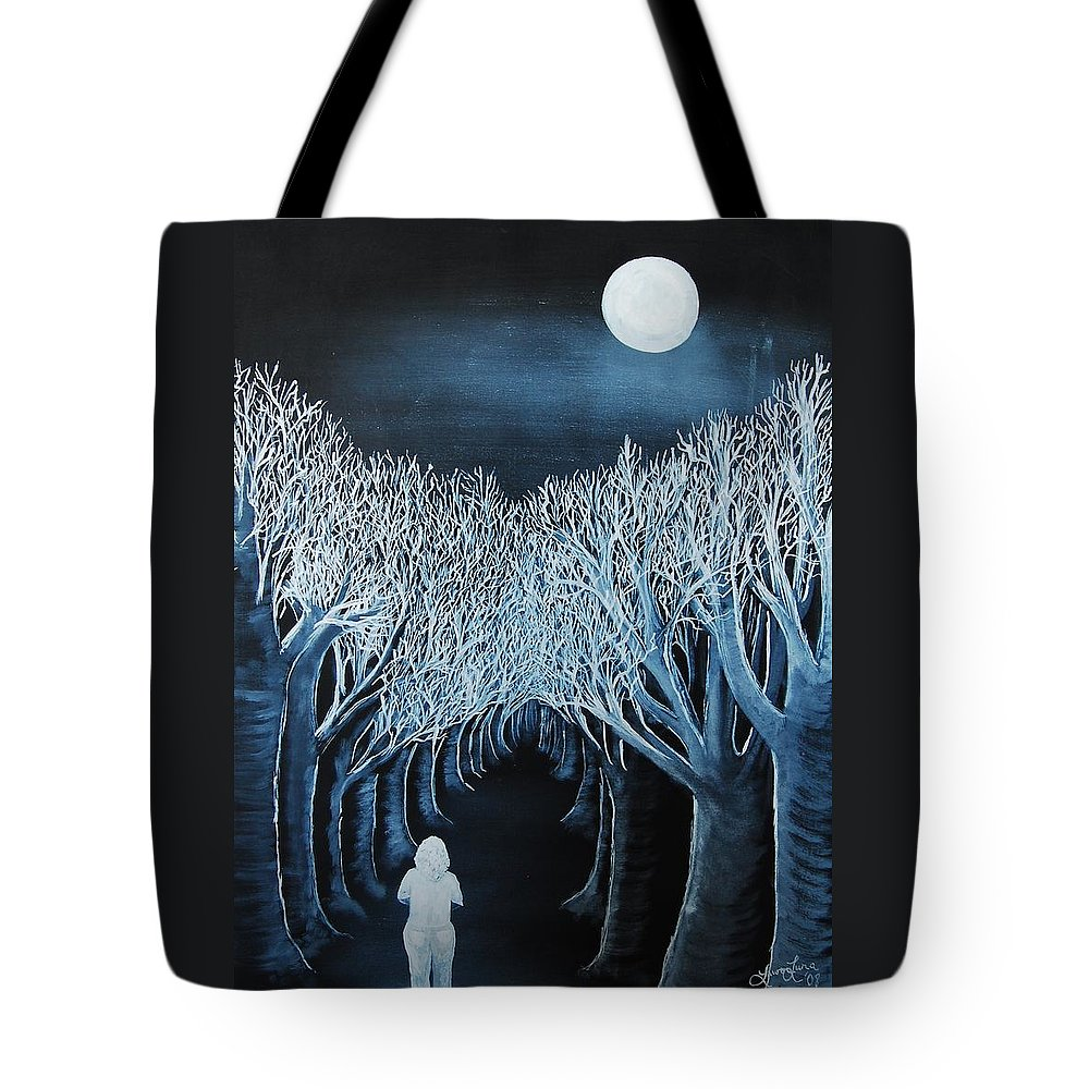 Landscape Tote Bag featuring the painting Solidad by Lauren Luna