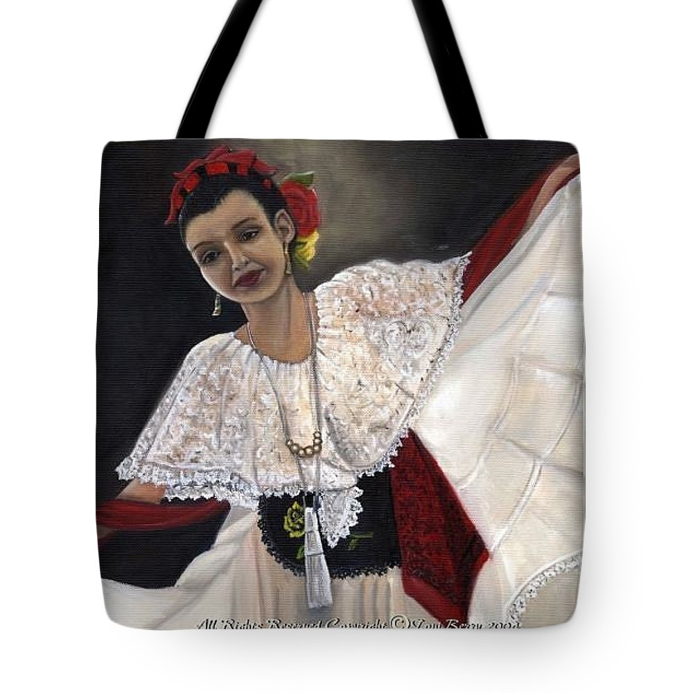 Tote Bag featuring the painting Solita by Toni Berry