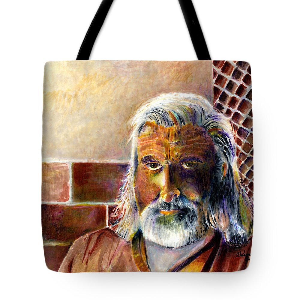Man Tote Bag featuring the painting Solitary by Arline Wagner
