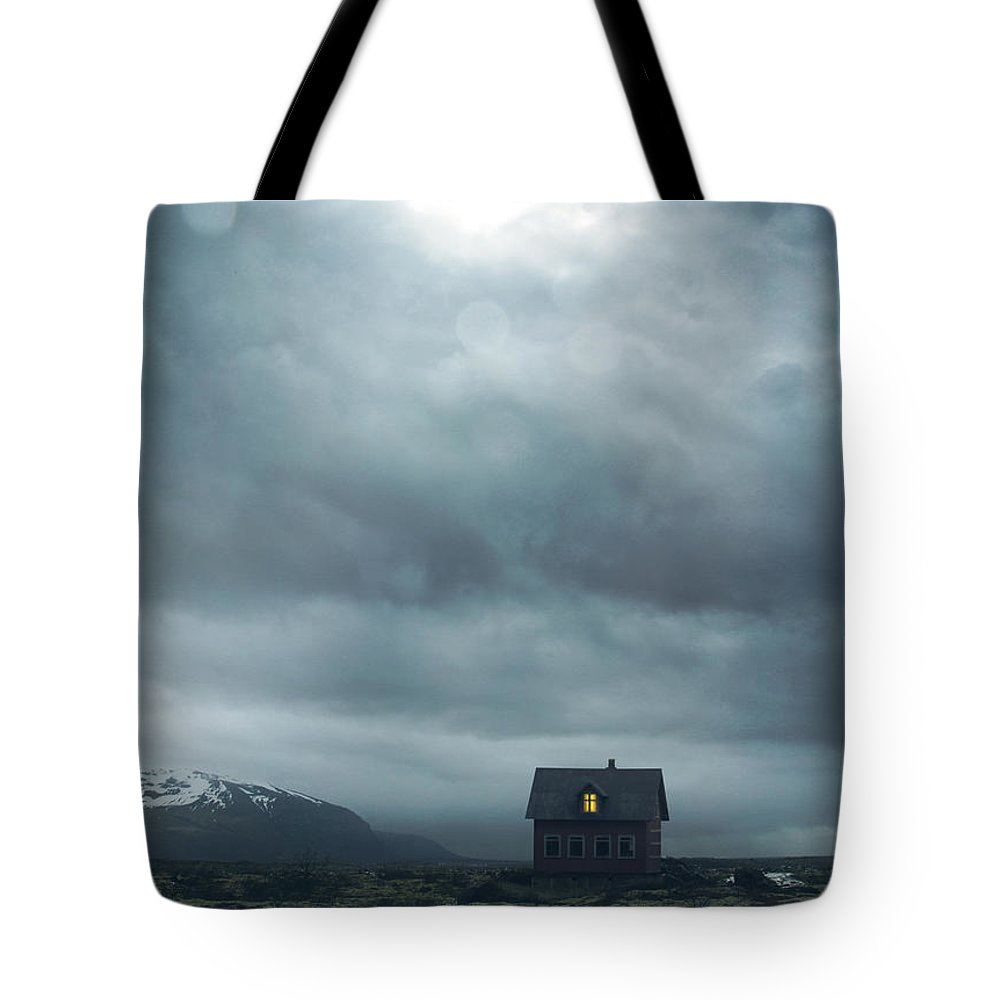House Tote Bag featuring the photograph Solitary House by Mark Owen