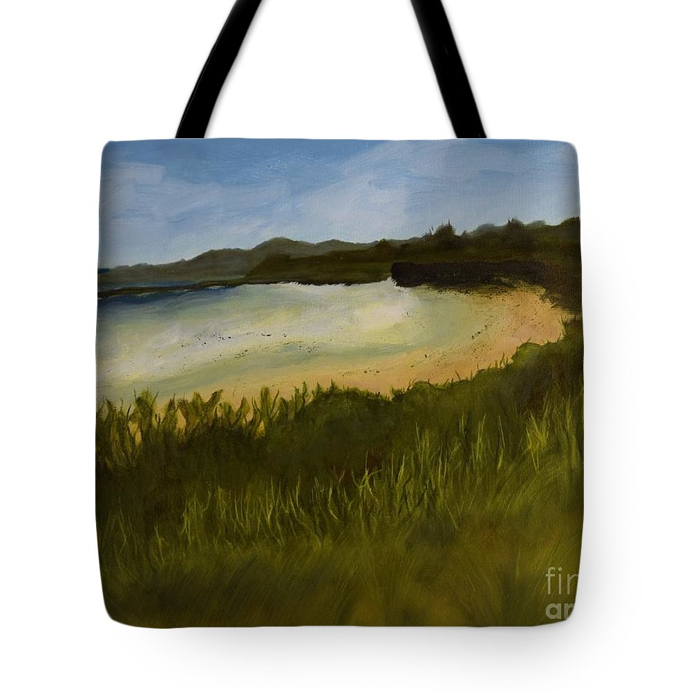 Tote Bag featuring the painting Solitude by Barrie Stark