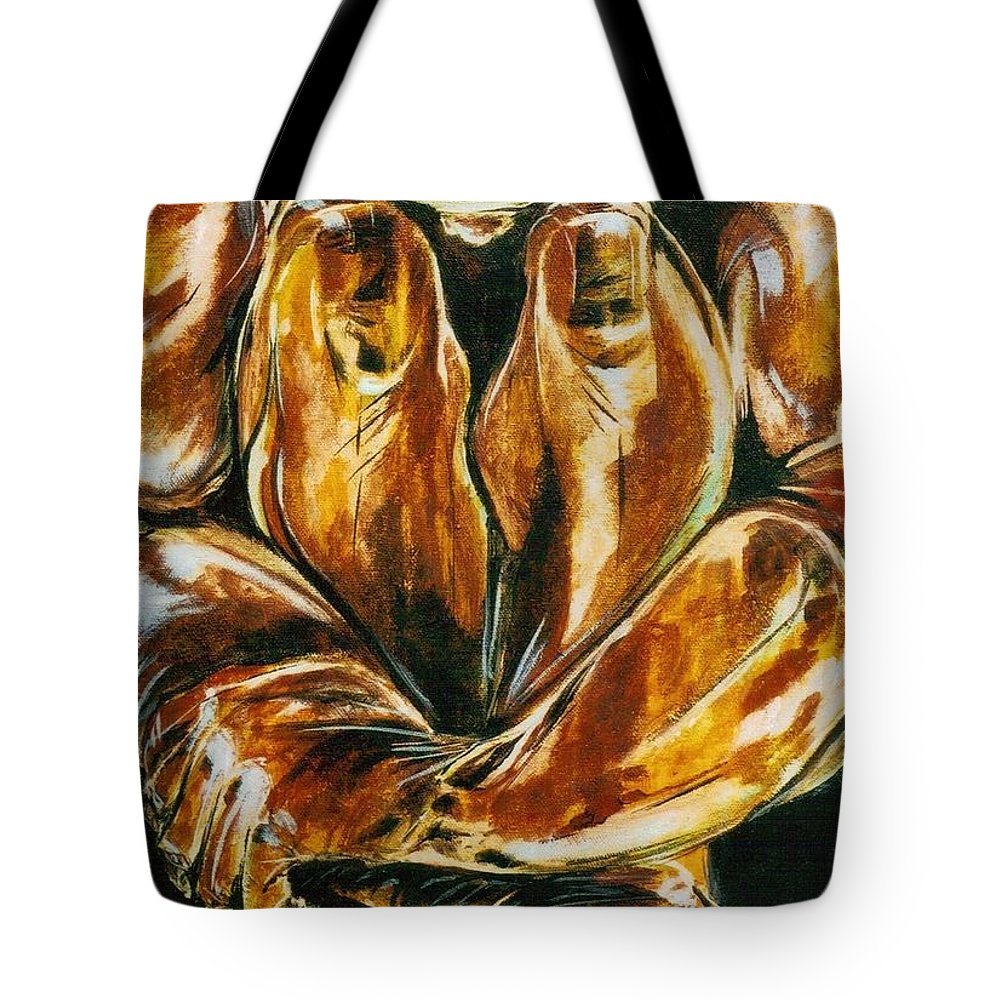 Figure Tote Bag featuring the painting Solitude by Hasaan Kirkland