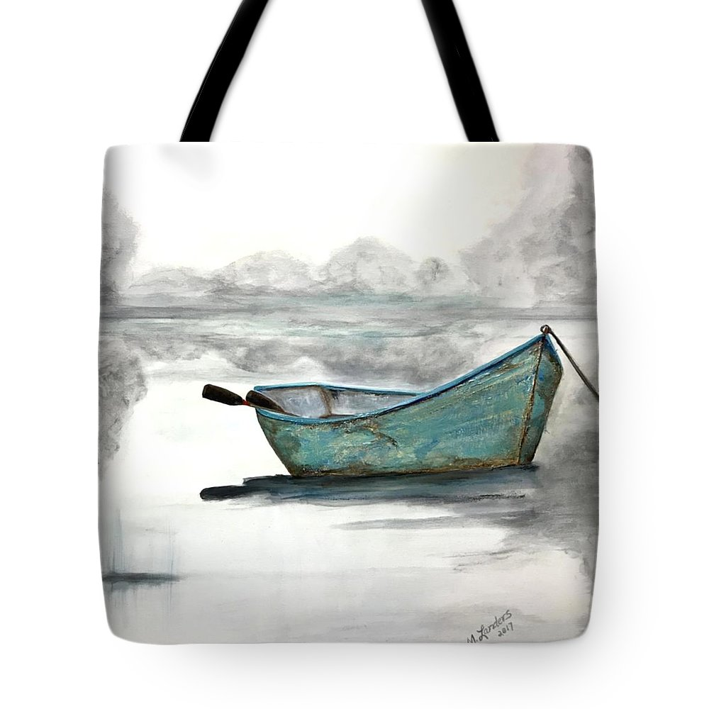 Boat Tote Bag featuring the painting Solitude by Marilyn Landers