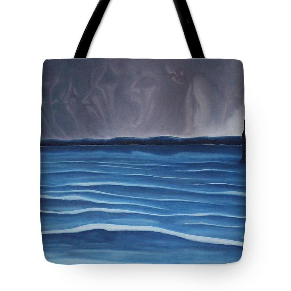 Tmad Tote Bag featuring the painting Solitude by Michael TMAD Finney