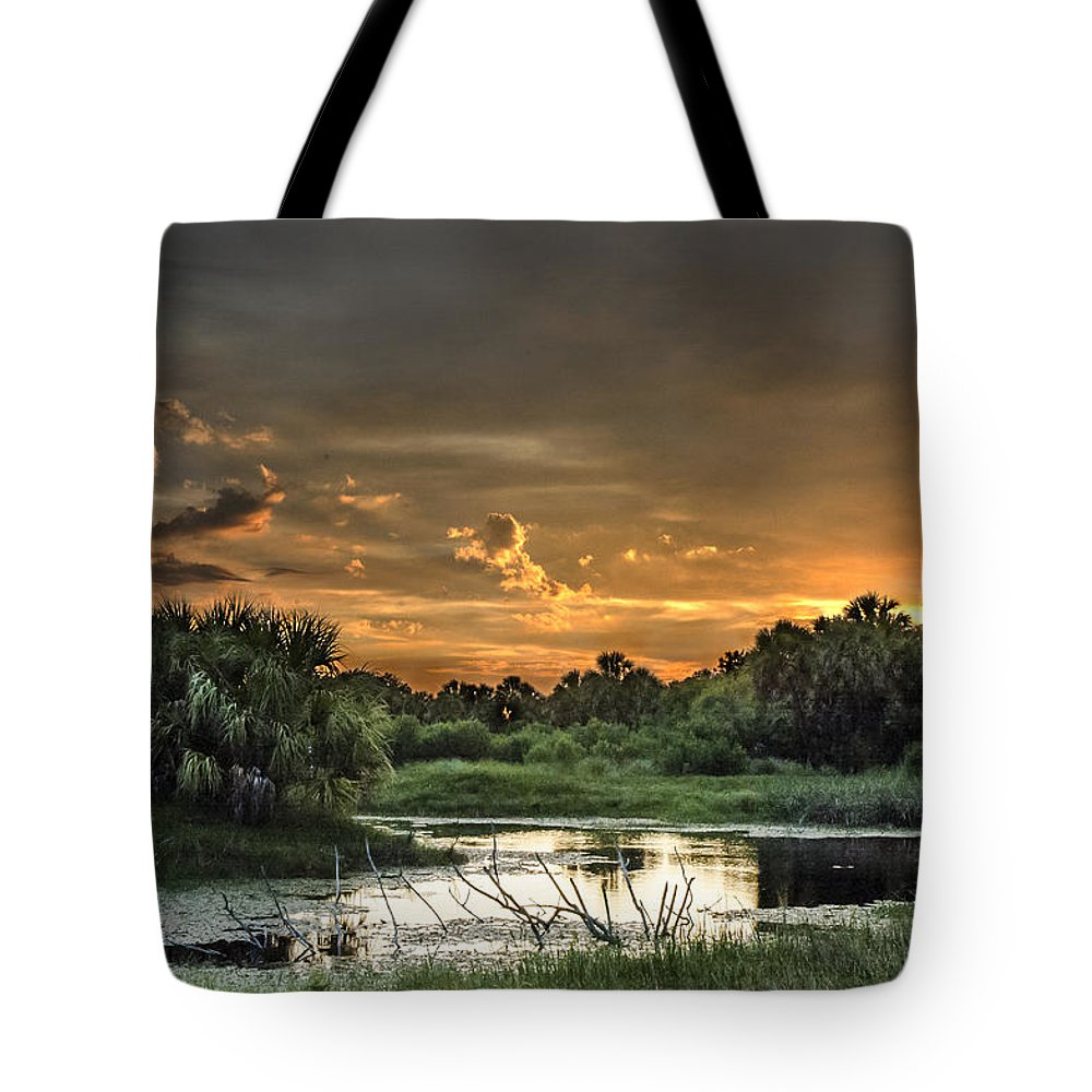 Sunset Tote Bag featuring the photograph Solitude by Norman Johnson