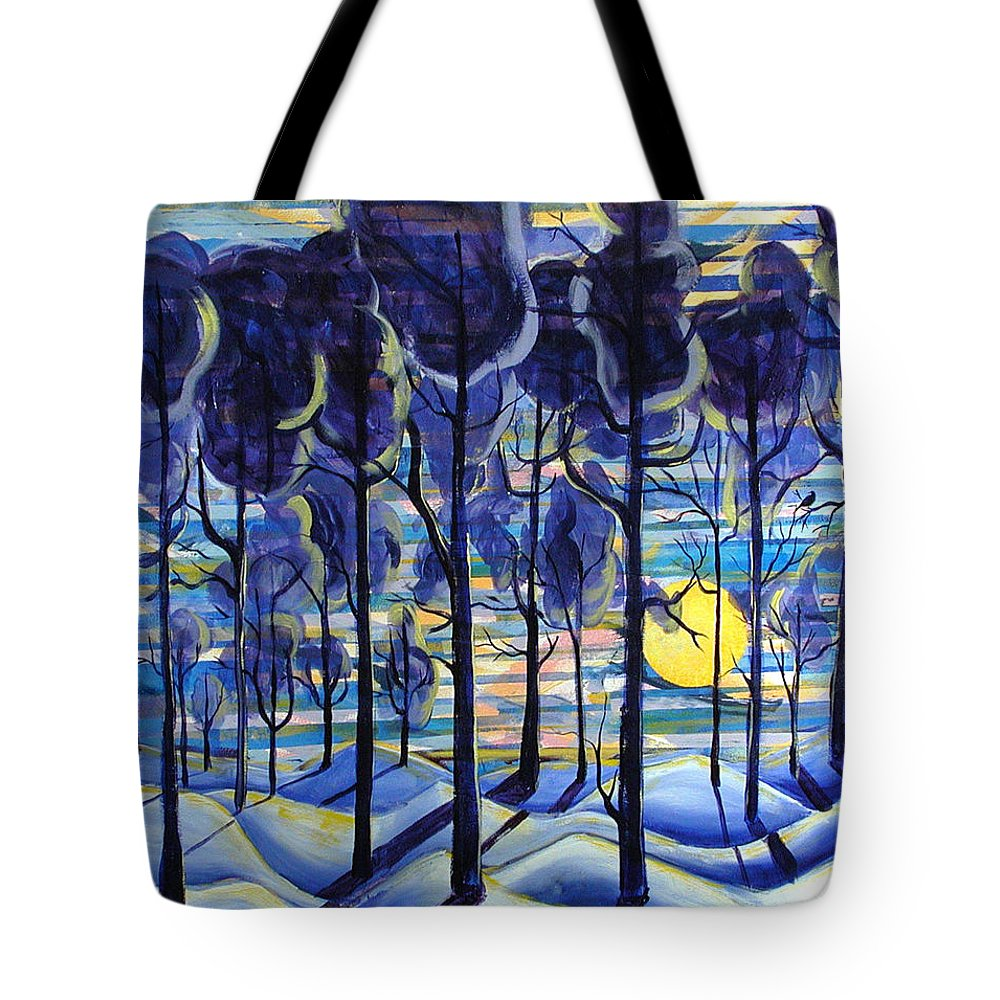 Landscape Tote Bag featuring the painting Solitude by Rollin Kocsis