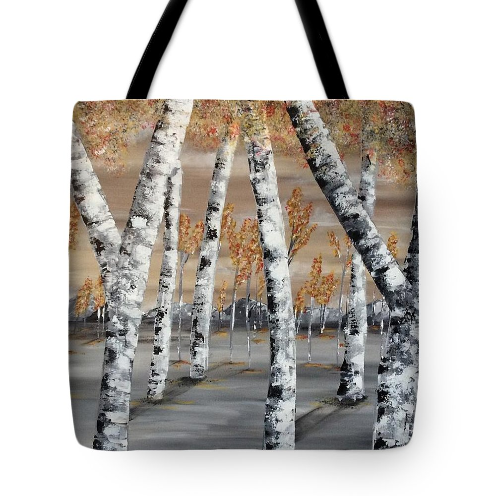 Trees Tote Bag featuring the painting Solitude by Susan Steever-Peterson