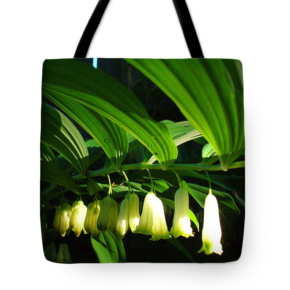 Solomon Seal Tote Bag featuring the photograph Solomon's Seal by Peggy King