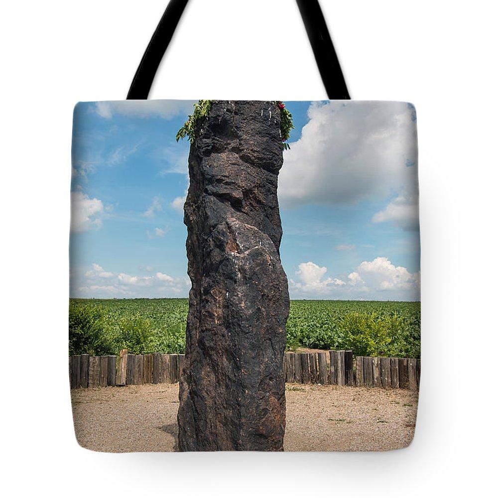 Heathen Tote Bag featuring the photograph Solstice Celebrations - Menhir Stone Shepherd by Michal Boubin